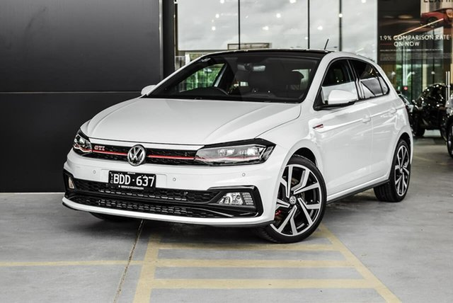 Demo Volkswagen Polo AW MY19 GTI DSG, 2019 Volkswagen Polo AW MY19 GTI DSG White 6 Speed Sports Automatic Dual Clutch Hatchback