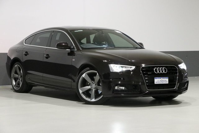Used Audi A5 8T MY16 Sportback 2.0 TFSI Quattro, 2016 Audi A5 8T MY16 Sportback 2.0 TFSI Quattro Black 7 Speed Auto Direct Shift Hatchback
