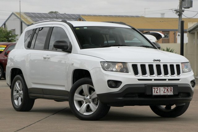 Used Jeep Compass MK MY14 Sport, 2013 Jeep Compass MK MY14 Sport White 6 Speed Sports Automatic Wagon