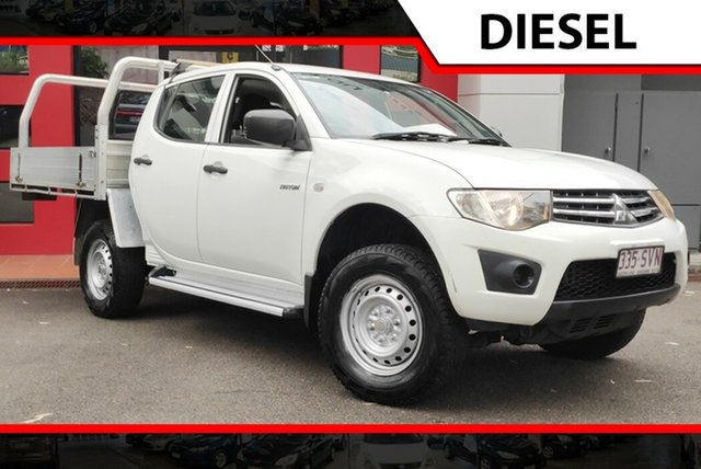 Used Mitsubishi Triton MN MY13 GLX Double Cab 4x2, 2013 Mitsubishi Triton MN MY13 GLX Double Cab 4x2 White 4 Speed Sports Automatic Utility