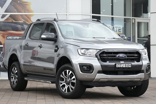 Demo Ford Ranger PX MkIII 2019.75MY Wildtrak Pick-up Double Cab, 2019 Ford Ranger PX MkIII 2019.75MY Wildtrak Pick-up Double Cab Aluminium 6 Speed Sports Automatic