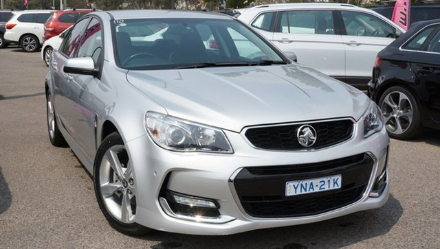 Used Holden Commodore VF II MY16 SV6, 2016 Holden Commodore VF II MY16 SV6 Silver 6 Speed Sports Automatic Sedan