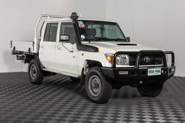 Used Toyota Landcruiser VDJ79R Workmate Double Cab, 2015 Toyota Landcruiser VDJ79R Workmate Double Cab French Vanilla 5 speed Manual Cab Chassis