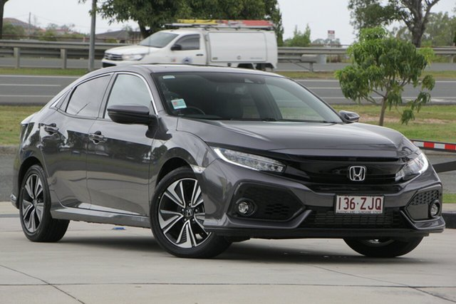Demo Honda Civic 10th Gen MY19 VTi-LX, 2019 Honda Civic 10th Gen MY19 VTi-LX Modern Steel 1 Speed Constant Variable Hatchback