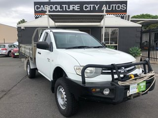 2011 Mitsubishi Triton MN MY11 GLX (4x4) White 5 Speed Manual 4x4 Cab Chassis.