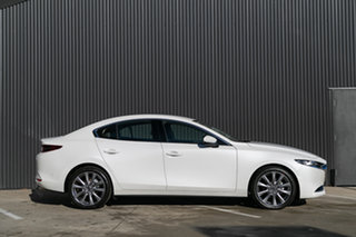 2019 Mazda 3 BP2H7A G20 SKYACTIV-Drive Touring Snowflake White Pearl 6 Speed Sports Automatic.