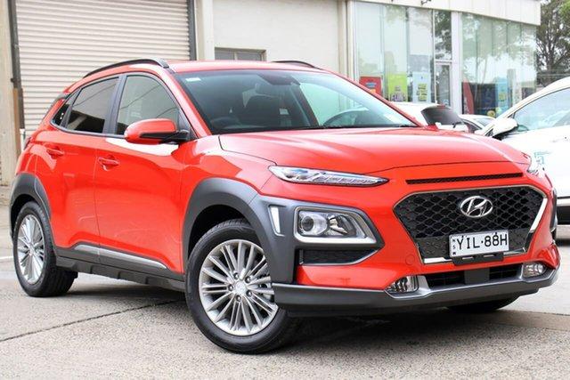 Demo Hyundai Kona OS.3 MY20 Elite 2WD, 2019 Hyundai Kona OS.3 MY20 Elite 2WD Tangerine Comet 6 Speed Sports Automatic Wagon