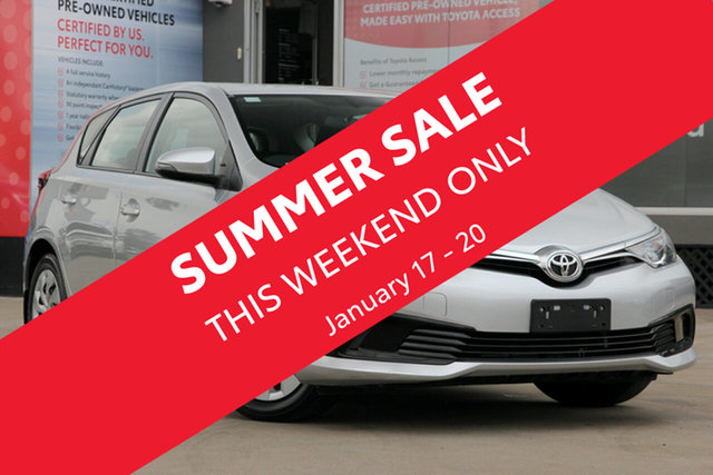 Used Toyota Corolla ZRE182R MY17 Ascent, 2018 Toyota Corolla ZRE182R MY17 Ascent Premium Silver 7 Speed CVT Auto Sequential Hatchback