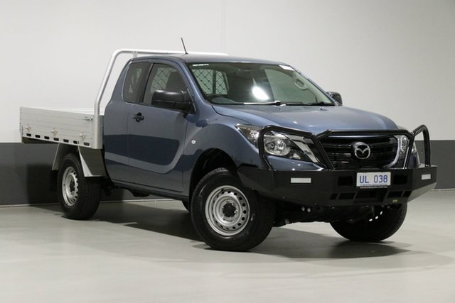 Used Mazda BT-50 MY18 XT (4x4) (5Yr), 2019 Mazda BT-50 MY18 XT (4x4) (5Yr) Blue 6 Speed Manual Freestyle Cab Chassis