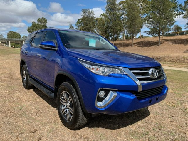 Used Toyota Fortuner GUN156R MY18 GXL, 2017 Toyota Fortuner GUN156R MY18 GXL Nebula Blue 6 Speed Automatic Wagon