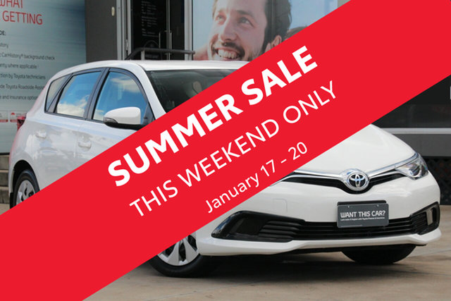 Used Toyota Corolla ZRE182R MY17 Ascent, 2018 Toyota Corolla ZRE182R MY17 Ascent Glacier White 7 Speed CVT Auto Sequential Hatchback