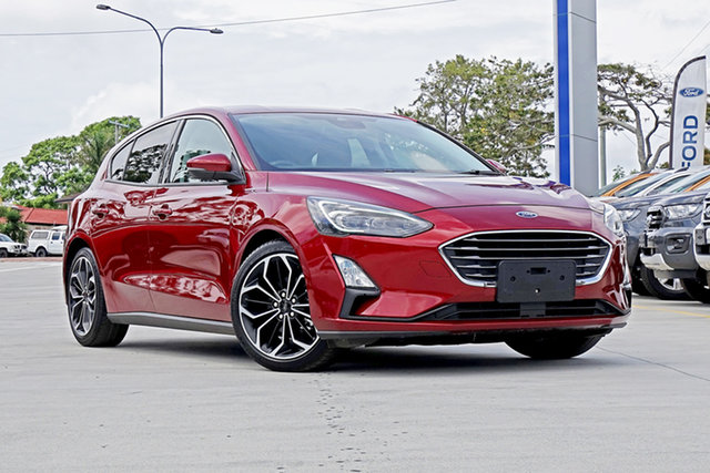 Used Ford Focus SA 2019MY Titanium, 2018 Ford Focus SA 2019MY Titanium Red 8 Speed Automatic Hatchback