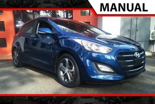 2015 Hyundai i30 GD3 Series II MY16 Active X Dark Blue 6 Speed Manual Hatchback.