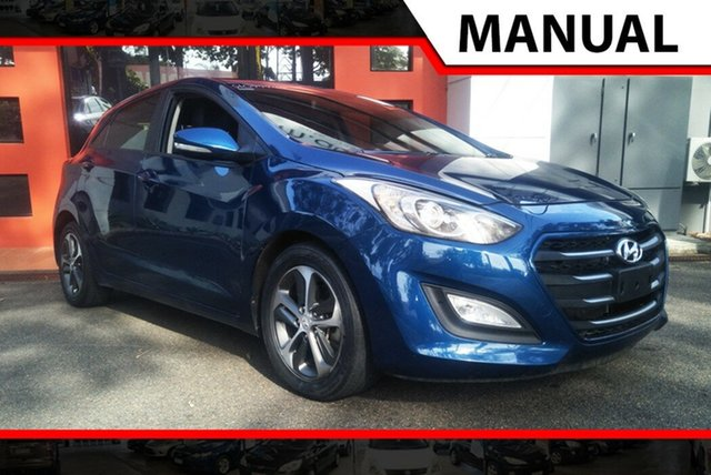 Used Hyundai i30 GD3 Series II MY16 Active X, 2015 Hyundai i30 GD3 Series II MY16 Active X Dark Blue 6 Speed Manual Hatchback