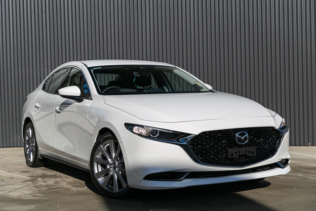Demo Mazda 3 BP2H7A G20 SKYACTIV-Drive Touring, 2019 Mazda 3 BP2H7A G20 SKYACTIV-Drive Touring Snowflake White Pearl 6 Speed Sports Automatic