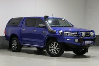2017 Toyota Hilux GUN126R SR5 (4x4) Blue 6 Speed Automatic Dual Cab Utility.