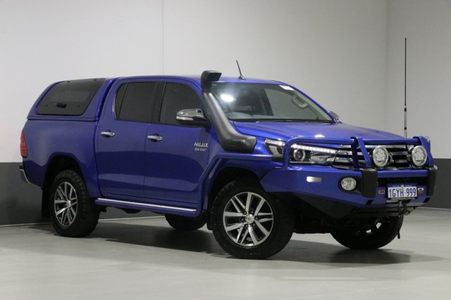 Used Toyota Hilux GUN126R SR5 (4x4), 2017 Toyota Hilux GUN126R SR5 (4x4) Blue 6 Speed Automatic Dual Cab Utility