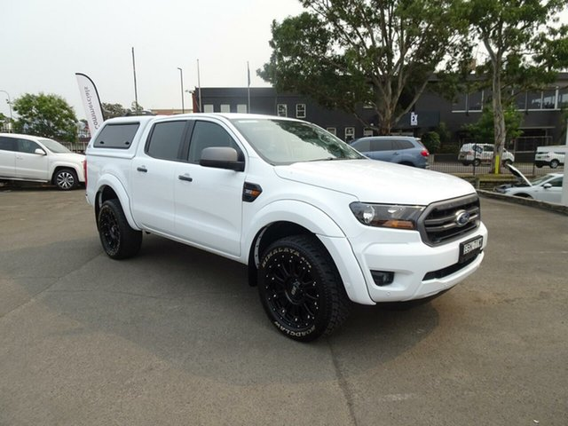 Used Ford Ranger  XLS Pick-up Double Cab, 2018 Ford Ranger PX MKIII 2019.0 XLS Pick-up Double Cab Frozen White 6 Speed Sports Automatic