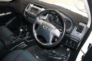 2015 Toyota Hilux KUN26R MY14 SR5 (4x4) White 5 Speed Automatic Dual Cab Pick-up