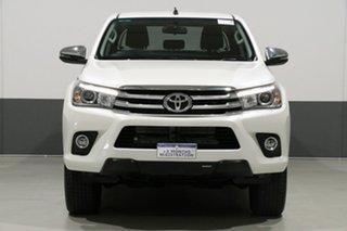 2018 Toyota Hilux GUN126R MY17 SR5 (4x4) Crystal Pearl 6 Speed Automatic Dual Cab Utility.