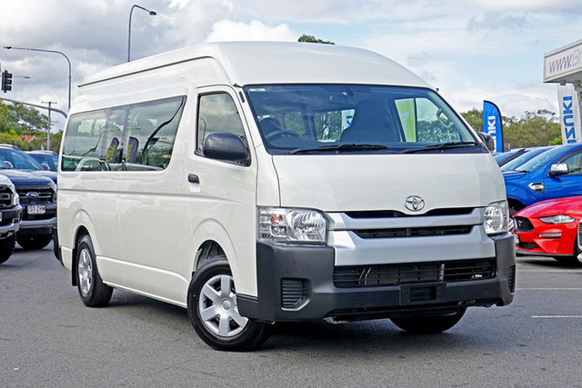 Used Toyota HiAce KDH223R Commuter High Roof Super LWB, 2017 Toyota HiAce KDH223R Commuter High Roof Super LWB White 4 Speed Automatic Bus