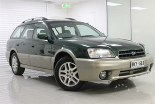 1998 Subaru Outback B2A Limited Green & Silver 4 Speed Automatic Wagon.