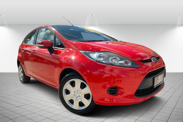 Used Ford Fiesta WT CL, 2012 Ford Fiesta WT CL Red 5 Speed Manual Hatchback