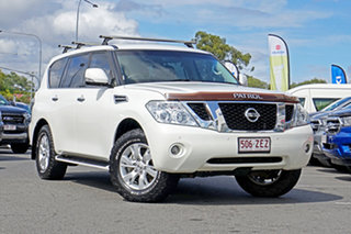 2012 Nissan Patrol Y62 TI White 7 Speed Sports Automatic Wagon.