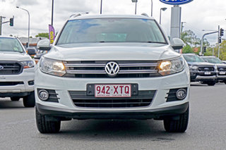 2015 Volkswagen Tiguan 5N MY16 130TDI DSG 4MOTION White 7 Speed Sports Automatic Dual Clutch Wagon.