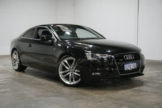 Used Audi A5 8T MY16 S Tronic Quattro, 2015 Audi A5 8T MY16 S Tronic Quattro Mythos Black 7 Speed Sports Automatic Dual Clutch Coupe
