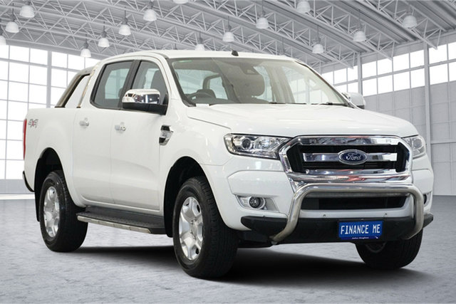 Used Ford Ranger PX MkII XLT Double Cab, 2016 Ford Ranger PX MkII XLT Double Cab Frozen White 6 Speed Sports Automatic Utility