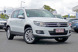 2015 Volkswagen Tiguan 5N MY16 130TDI DSG 4MOTION White 7 Speed Sports Automatic Dual Clutch Wagon.