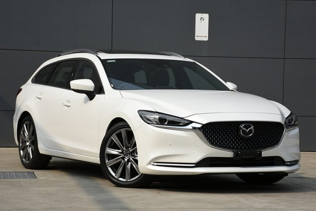 Used Mazda 6 GL1033 Atenza SKYACTIV-Drive, 2019 Mazda 6 GL1033 Atenza SKYACTIV-Drive Snowflake White 6 Speed Sports Automatic Wagon