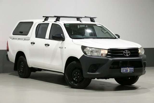 Used Toyota Hilux TGN121R Workmate, 2015 Toyota Hilux TGN121R Workmate White 6 Speed Automatic Dual Cab Utility
