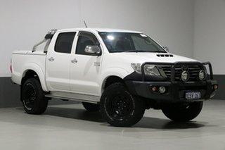 2015 Toyota Hilux KUN26R MY14 SR5 (4x4) White 5 Speed Automatic Dual Cab Pick-up.