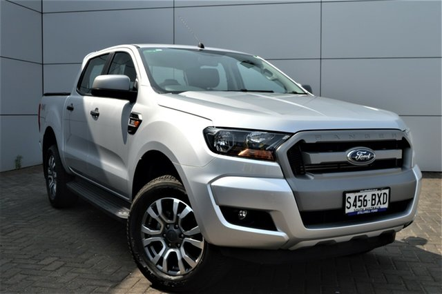 Used Ford Ranger PX MkII 2018.00MY XLS Double Cab, 2018 Ford Ranger PX MkII 2018.00MY XLS Double Cab Ingot Silver/circuit 6 Speed Sports Automatic