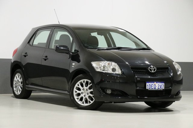 Used Toyota Corolla ZRE152R MY09 Edge, 2009 Toyota Corolla ZRE152R MY09 Edge Black 6 Speed Manual Hatchback