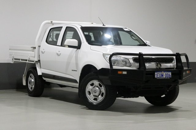 Used Holden Colorado RG MY15 LS (4x2), 2015 Holden Colorado RG MY15 LS (4x2) White 6 Speed Automatic Crew Cab Chassis