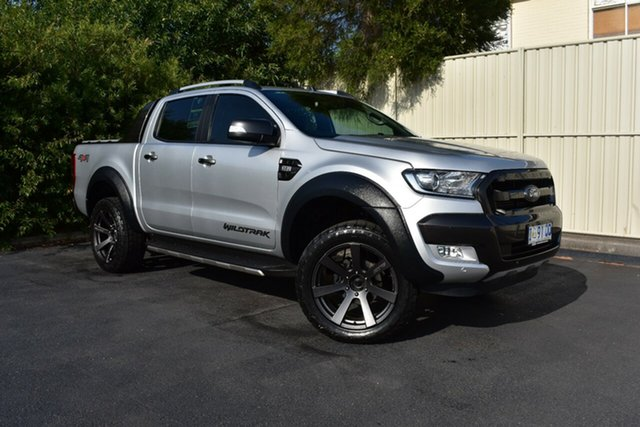 Used Ford Ranger PX MkII Wildtrak Double Cab, 2017 Ford Ranger PX MkII Wildtrak Double Cab Silver 6 Speed Sports Automatic Utility