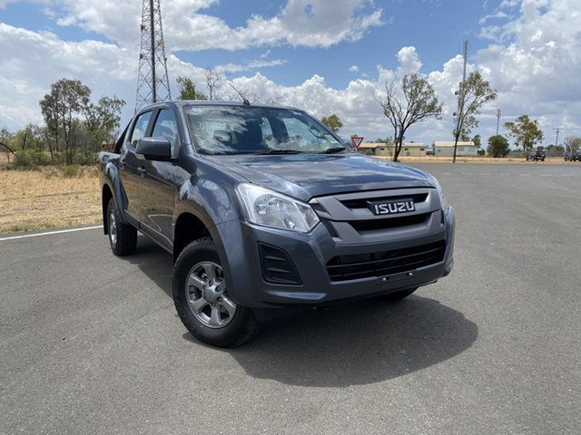 New Isuzu D-MAX MY19 SX Crew Cab 4x2 High Ride, 2019 Isuzu D-MAX MY19 SX Crew Cab 4x2 High Ride Obsidian Grey 6 Speed Sports Automatic Utility