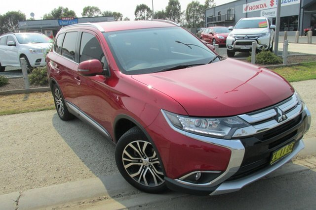 Used Mitsubishi Outlander ZK MY17 LS 2WD, 2017 Mitsubishi Outlander ZK MY17 LS 2WD Red 6 Speed Constant Variable Wagon