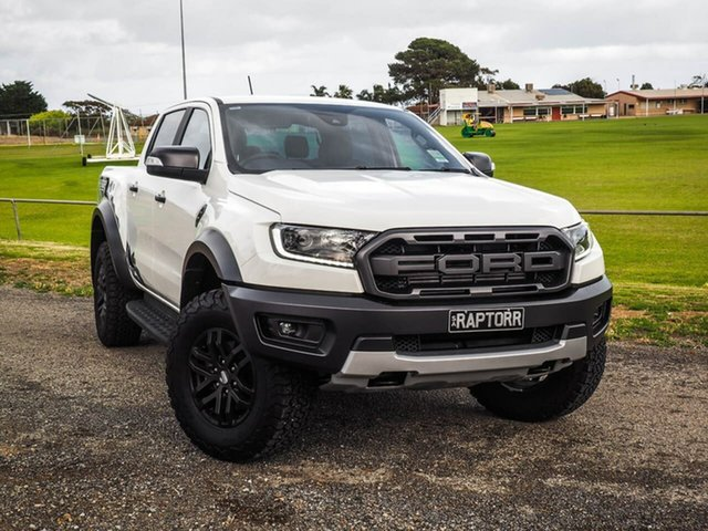 Used Ford Ranger PX MkIII 2019.75MY Raptor Pick-up Double Cab, 2019 Ford Ranger PX MkIII Raptor White 10 Speed Sports Automatic Utility