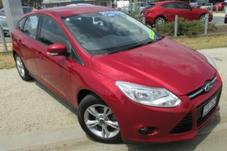 2013 Ford Focus LW MkII Trend PwrShift Red 6 Speed Sports Automatic Dual Clutch Hatchback.