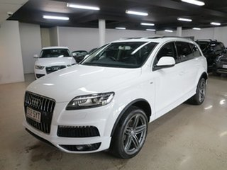 2013 Audi Q7 MY13 TDI Tiptronic Quattro White 8 Speed Sports Automatic Wagon.