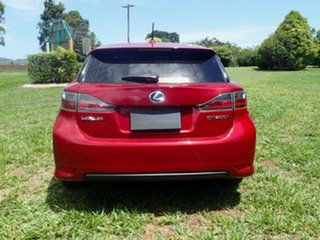 2012 Lexus CT 200H. Hybrid ZWA10R F Sport Red Continuous Variable Hatchback