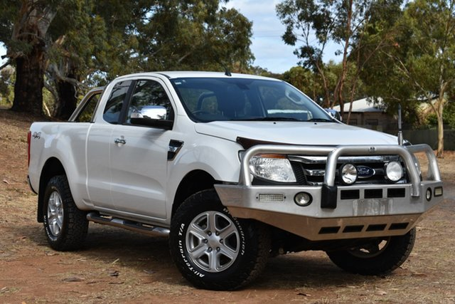 Used Ford Ranger PX XLT Super Cab, 2012 Ford Ranger PX XLT Super Cab White 6 Speed Manual Utility