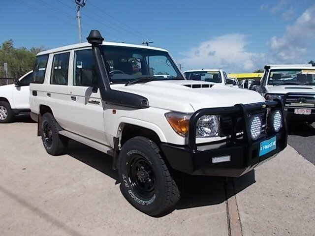 Used Toyota Landcruiser VDJ76R Workmate, 2019 Toyota Landcruiser VDJ76R Workmate White 5 Speed Manual Wagon