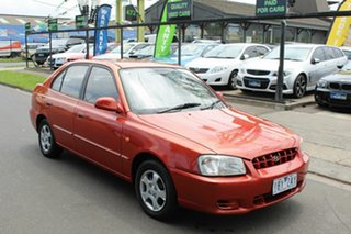 2000 Hyundai Accent LC GLS Red 4 Speed Automatic Hatchback