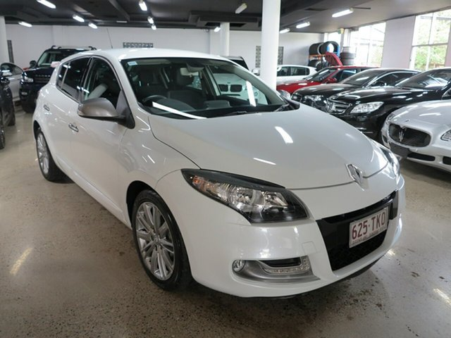 Used Renault Megane III B95 MY13 GT-Line EDC, 2013 Renault Megane III B95 MY13 GT-Line EDC White 6 Speed Sports Automatic Dual Clutch Hatchback
