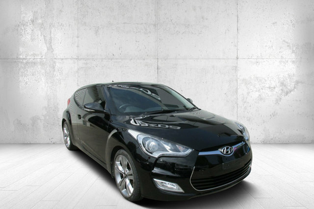 Used Hyundai Veloster FS + Coupe D-CT, 2012 Hyundai Veloster FS + Coupe D-CT Black 6 Speed Sports Automatic Dual Clutch Hatchback